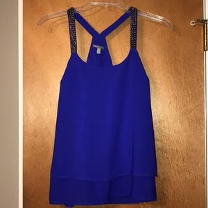 Charlotte Russe Tank Top with Beading